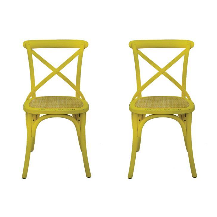 Conjunto de 2 Cadeiras Katrina Amarela
