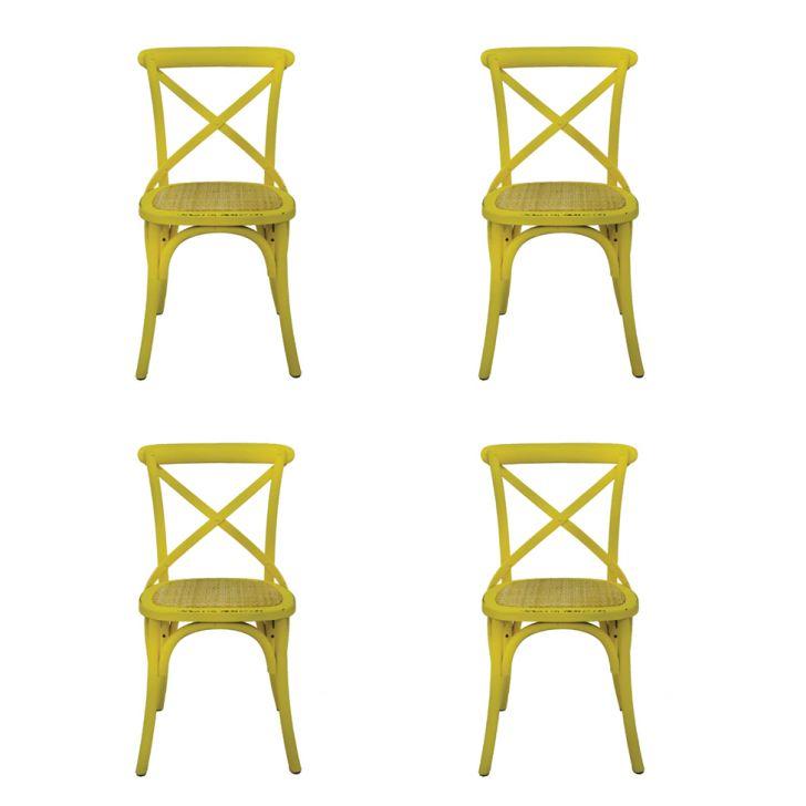 Conjunto de 4 Cadeiras Katrina Amarela