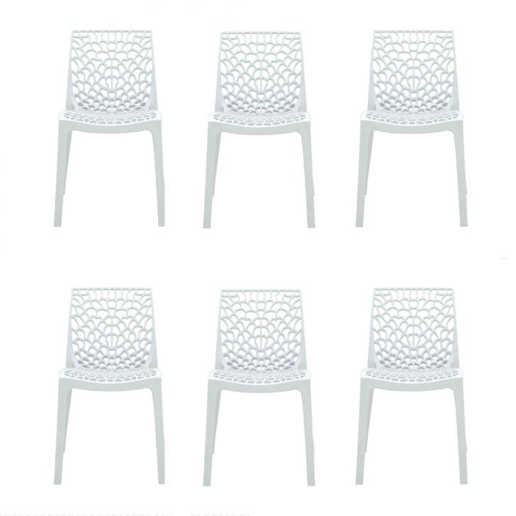 Conjunto de 6 Cadeiras Gruvyer Branca