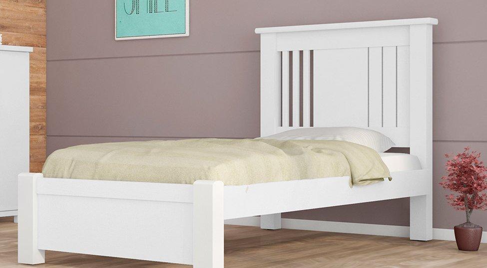 dormitorio de solteiro virtual juvenil 120 cm branco