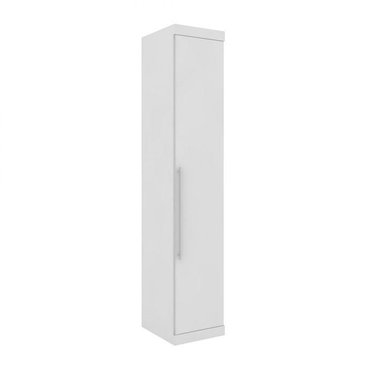 Guarda-Roupa Closet Modulado Virtual I Branco Fosco e Amadeirado