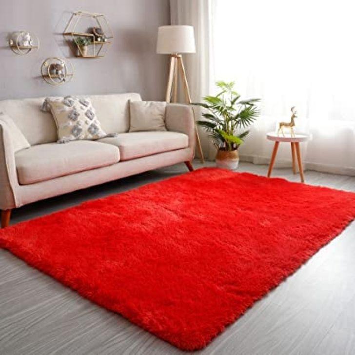 Tapetes Vermelhos Comprar Tapete Vermelho Tapetes: Tapete Saturs Shaggy Pelo Alto Vermelho