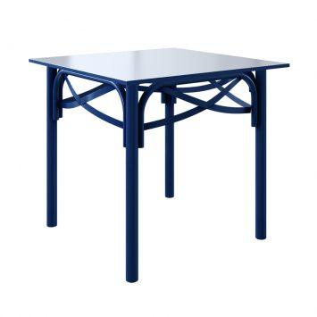 Mesa de Jantar Quadrada Katrina II Azul Noturno 90 cm DESCONTO DE R$: 401,00 (46,09% OFF) - OFERTA MOBLY