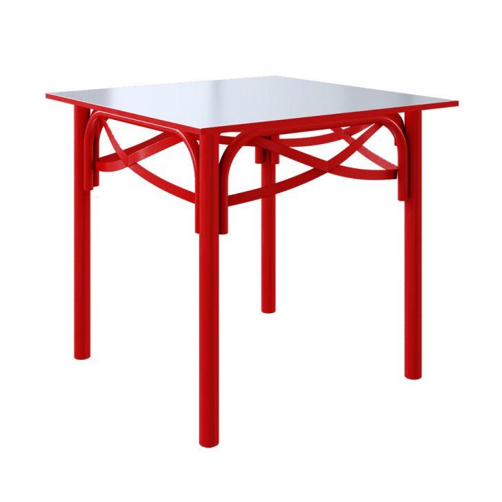 Mesa de Jantar Quadrada Katrina II Vermelho 90 cm