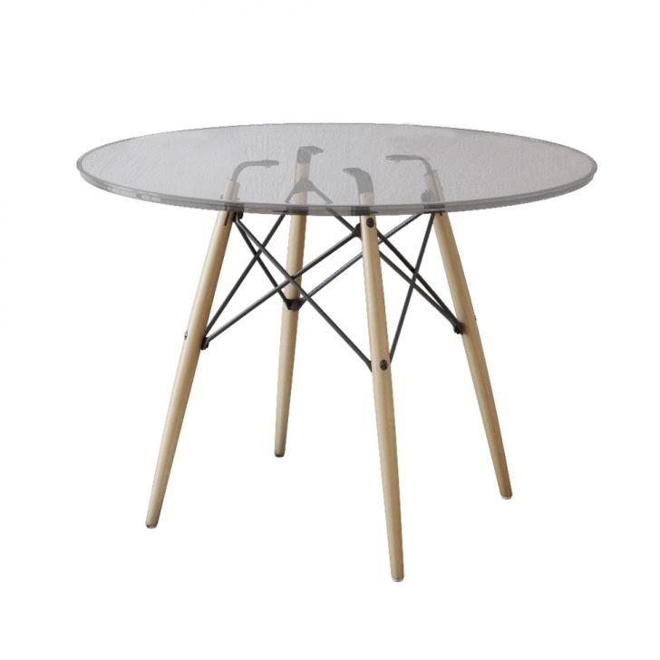 Mesa de jantar redonda eiffel wood marrom 120 cm for Mesa redonda blanca 120 cm