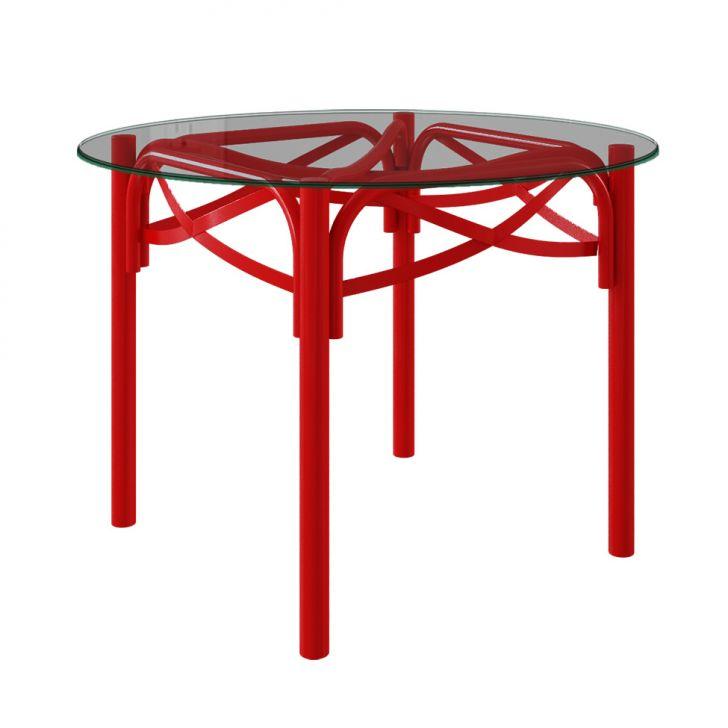 Mesa de Jantar Redonda Katrina I Vermelho 110 cm