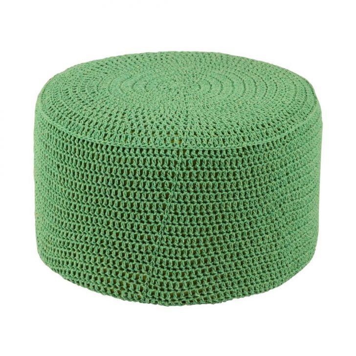 Puff Pastilha Crochê Verde