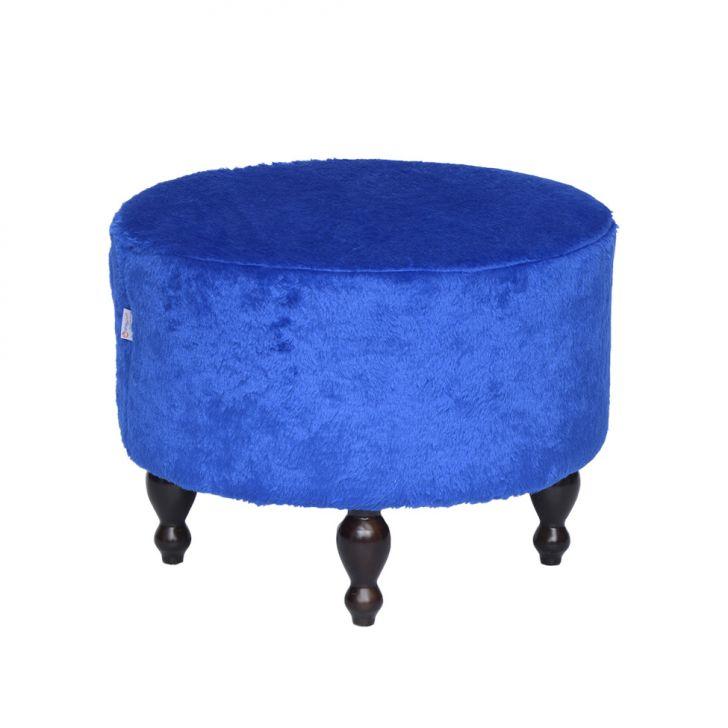 Puff Pastilha Pelúcia Azul
