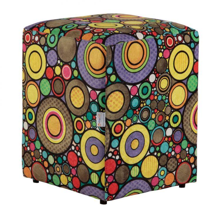 Puff Quadrado Cubo Suede Colorido II