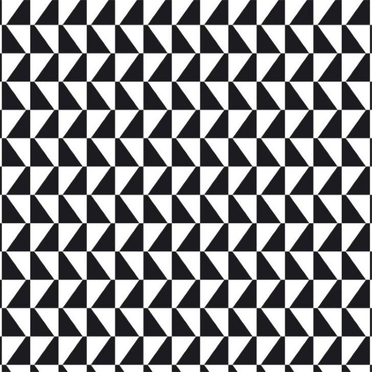 Papel de parede adesivo geom trico mosaico preto e branco for Mosaico adesivo 3d