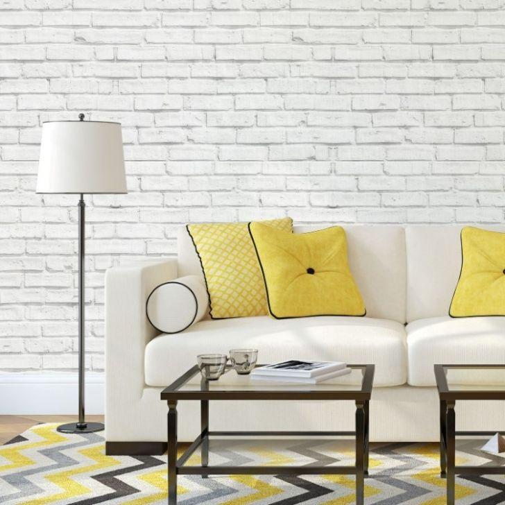 Aparador Wengue Y Blanco ~ Papel de Parede Adesivo Tijolo Branco 030