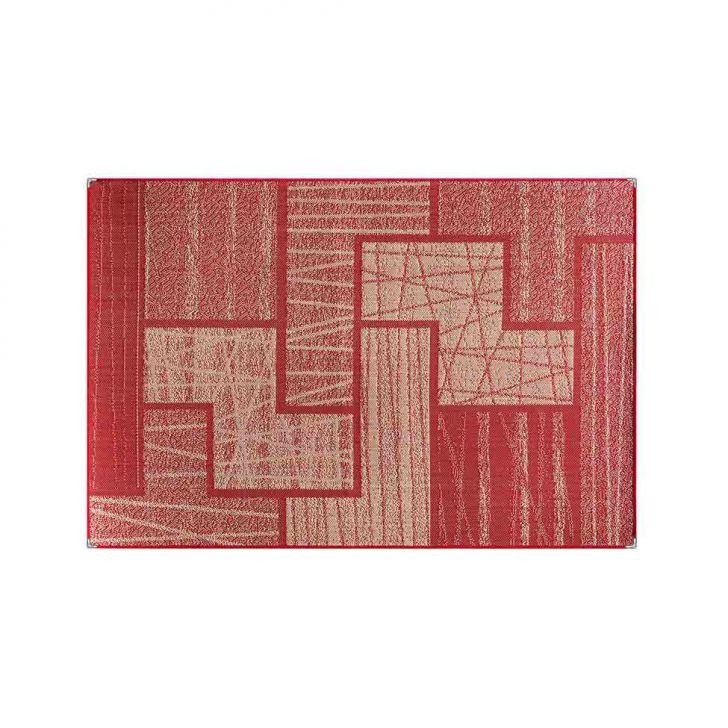 Tapete Polipropileno Sisllê II Retangular Vermelho 200x250