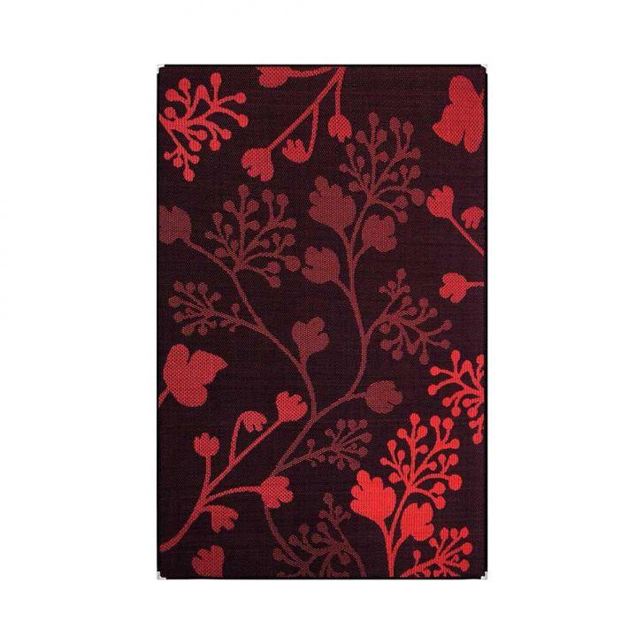 Tapete Sisslê Black VI Preto e Vermelho 66x180