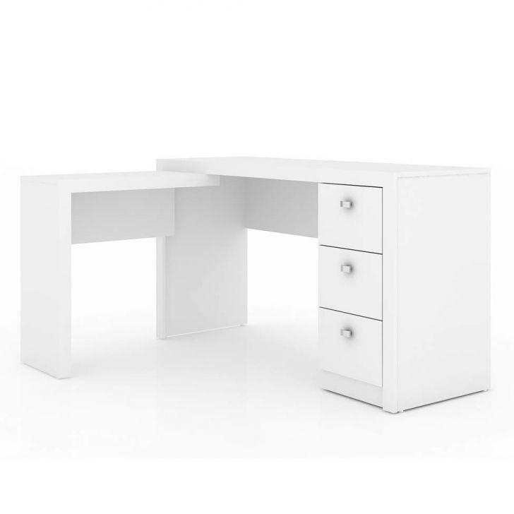 Mesa de Escritório 3 Gavetas ME4101 Reversivel Branco