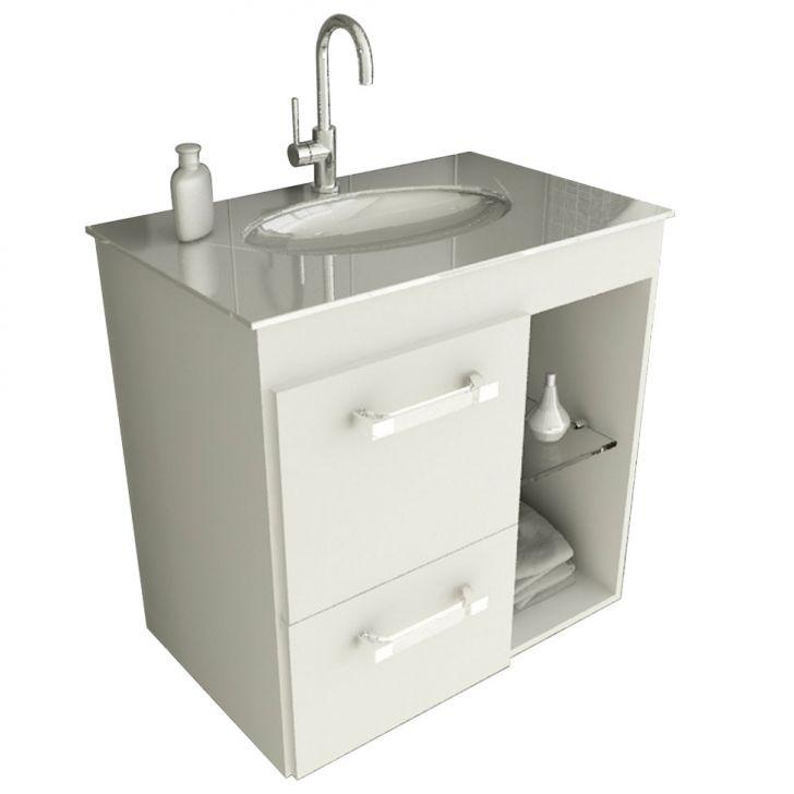 Gabinete Linea 12 60 cm 1 Porta 1 Gaveta Branco