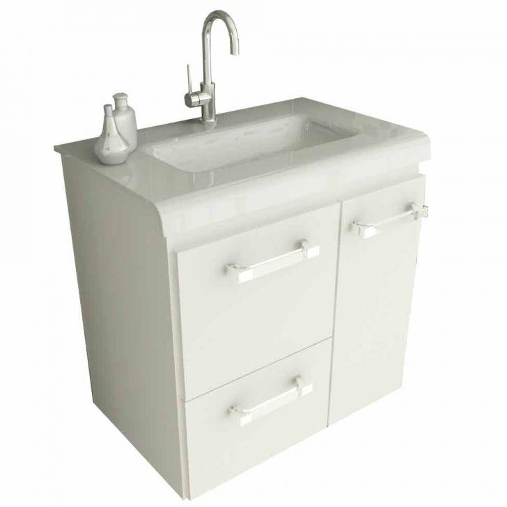 Foto 2 - Gabinete Vetro 60 cm 2 Portas 1 Gaveta Branco