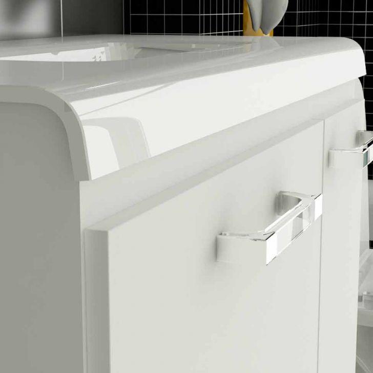 Foto 4 - Gabinete Vetro 60 cm 2 Portas 1 Gaveta Branco
