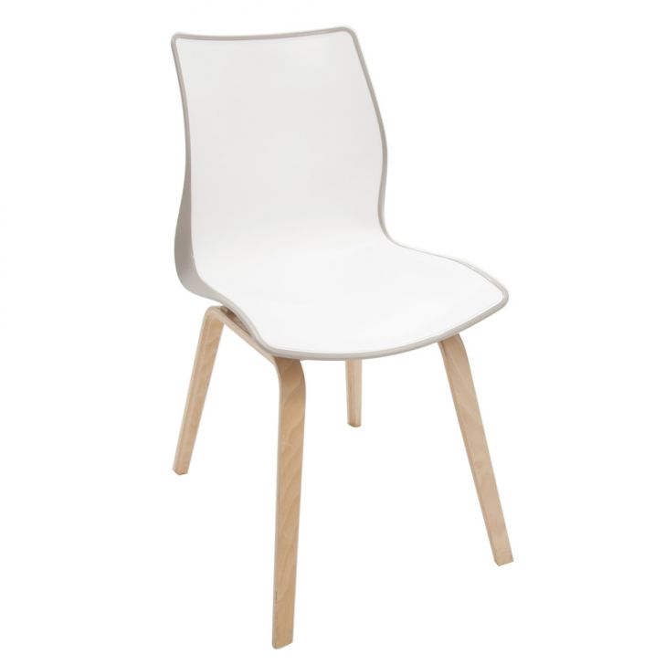 Cadeira Maja Camursa e Branco