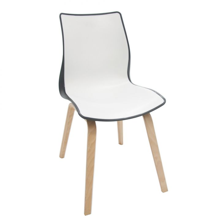 Cadeira Maja Preto e Branco