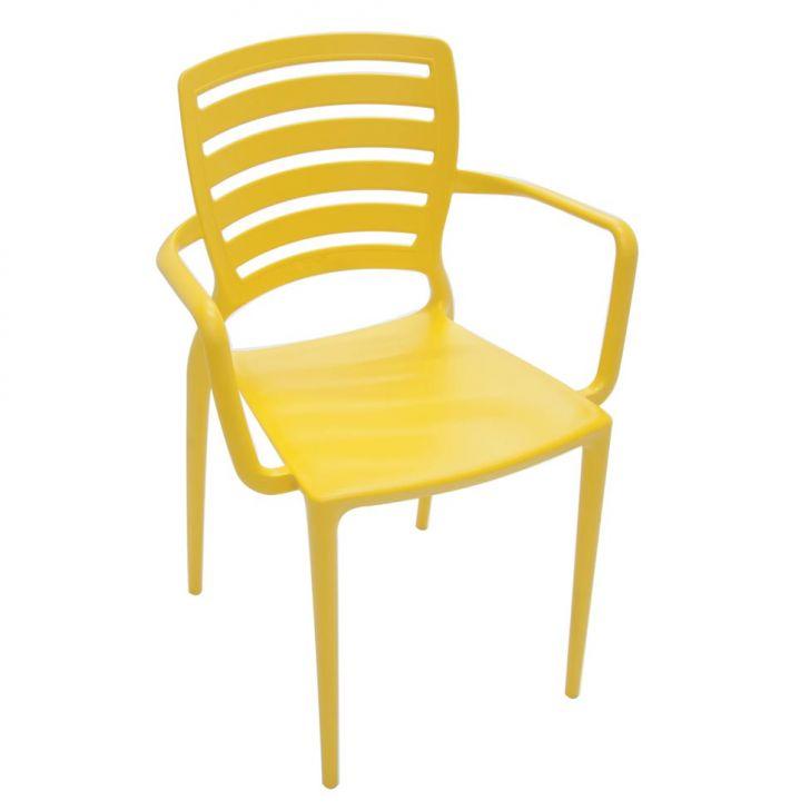 Cadeira Sofia Vazada Hz Amarelo