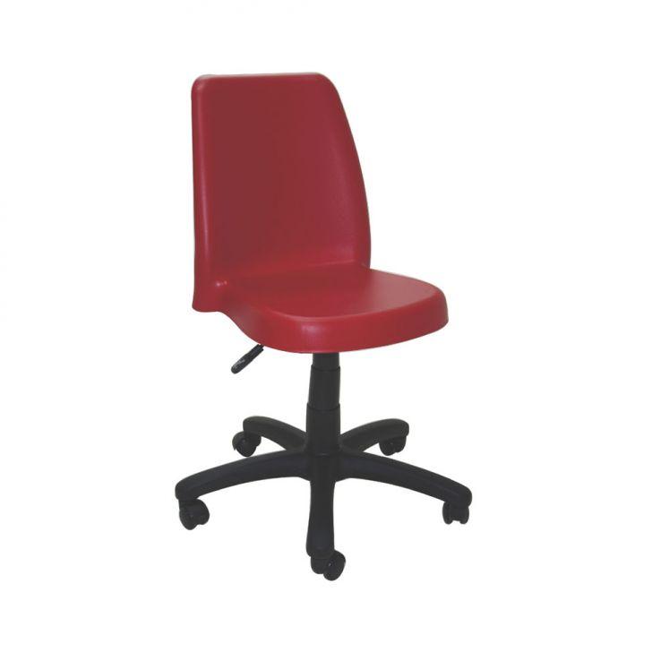 Cadeira Vanda com Rodízio Vermelho