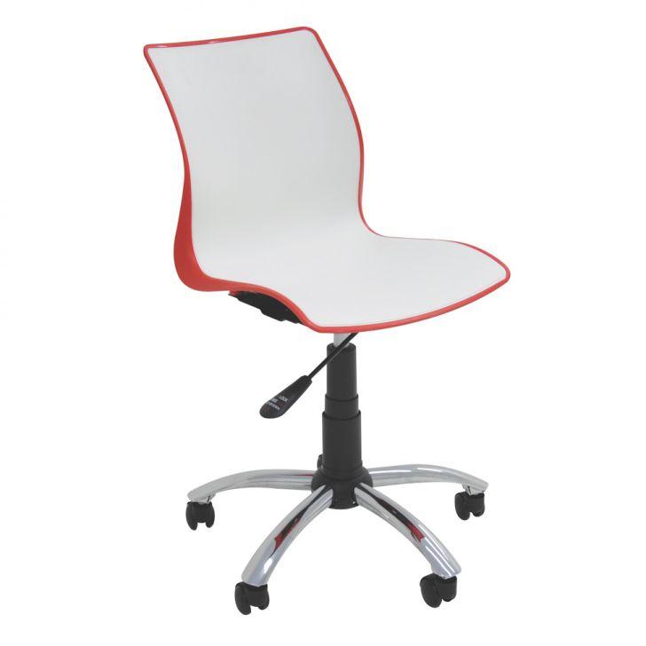 Cadeira de Escritório Secretária Maja Vermelho e Branco
