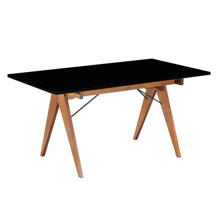 Mesa de Jantar Retangular Paes Preto Fosco