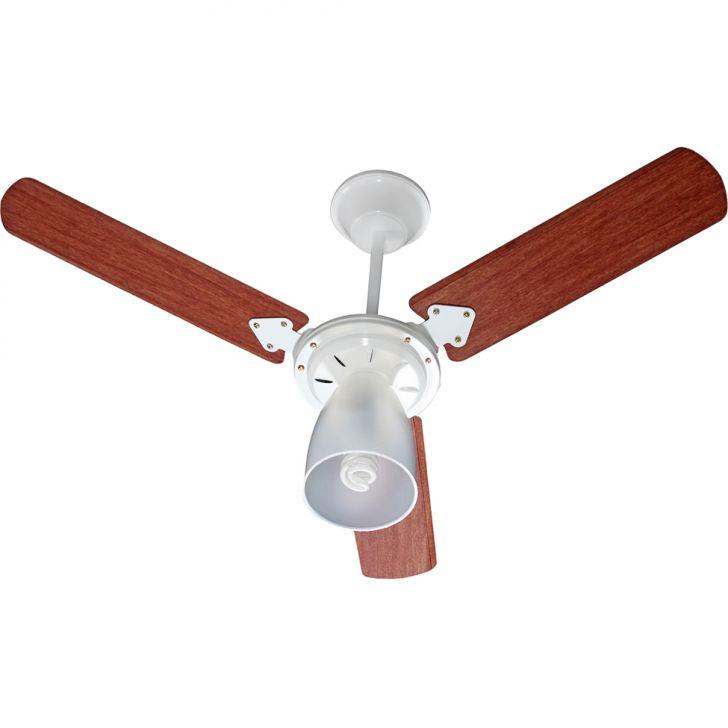 Ventilador de Teto Marbella 110/127V 3P Cvm New Branco 138,7W BRANCO/MOGNO