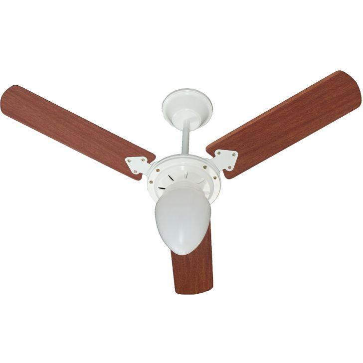 Ventilador de Teto Pera New 220V 3P Cvm At Branco 138,7W BRANCO/MOGNO