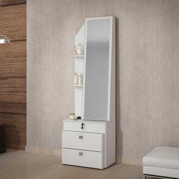 Cômoda Advance com Espelho 1PT 2GV Branco DESCONTO DE R$: 324,00 (54,00% OFF) - OFERTA MOBLY