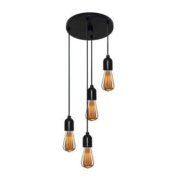 Luminaria Pendente Retro Md-4162 4 Suporte Para Lampada   Não Inclusa a398ee3f8147b