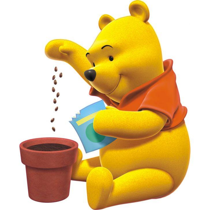 Adesivo De Parede Infantil X4 Adesivos Ursinho Pooh Colorido Qi77 M