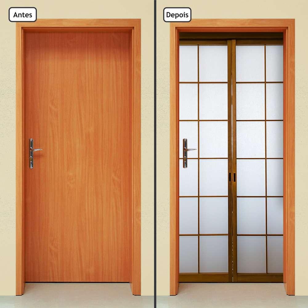 Adesivo Decorativo De Porta Shoji Porta Japonesa 1907cnpt