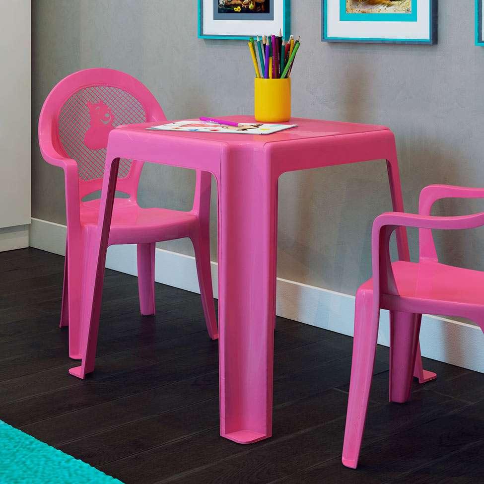 Mesa de pl stico infantil rosa - Mesas para ninos de plastico ...