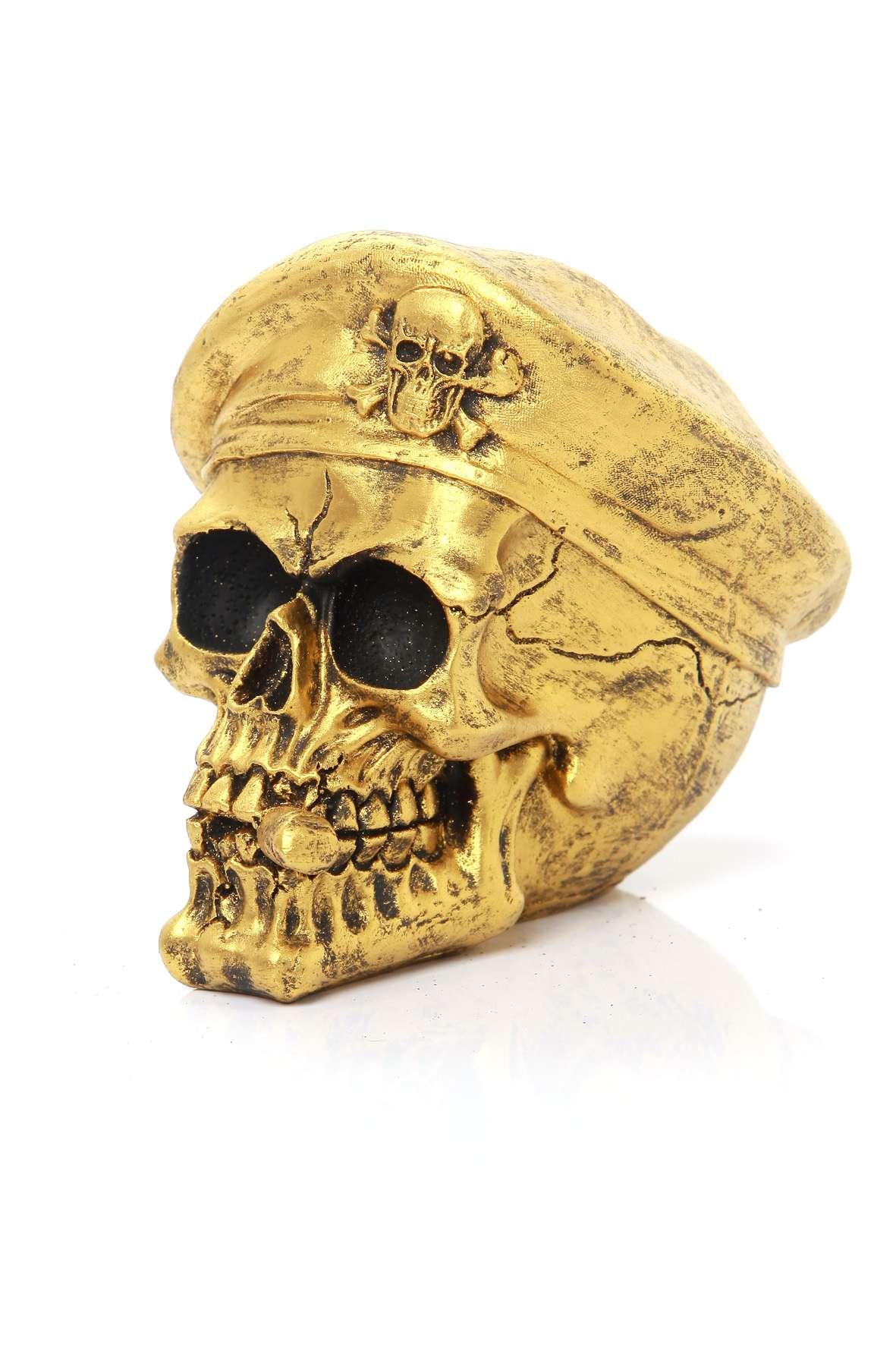 Caveira Boina Com Cigarro Ouro Velho 694b24f1592