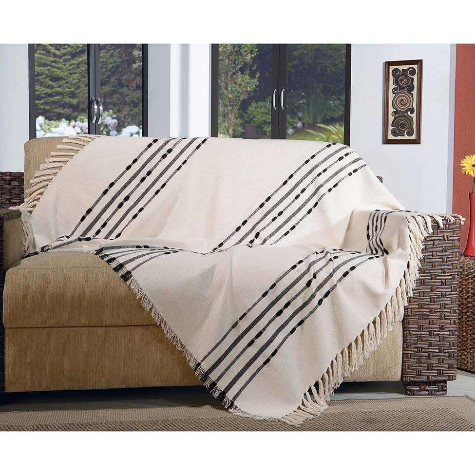 Manta para sof pegasus 150x140 preto 1328 - Manta para sofa ...