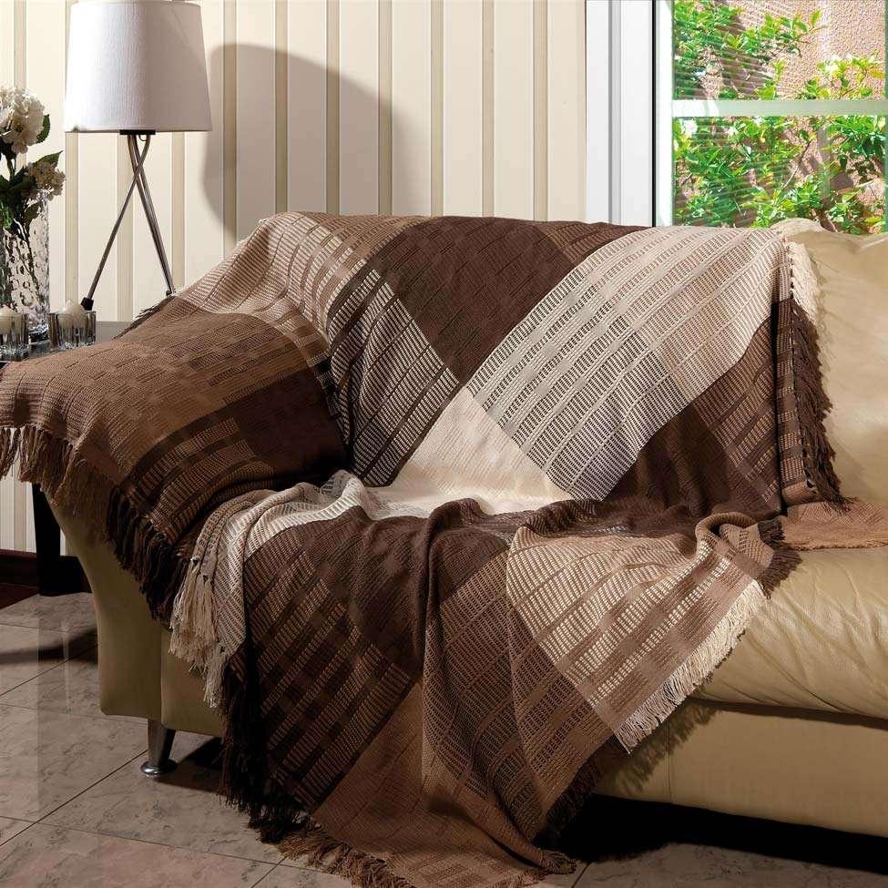 Manta para sof trieste 150x140 tabaco 1588 - Manta para sofa ...