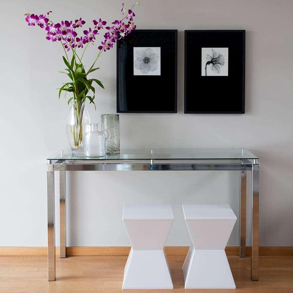 Aparador viterbo cromado vidro incolor - Aparador industrial ...