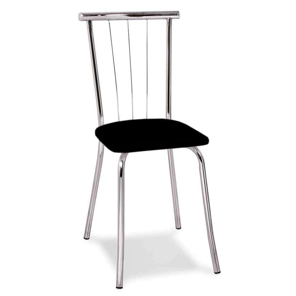 612819d60d Cadeira Cromada Ávila Preta
