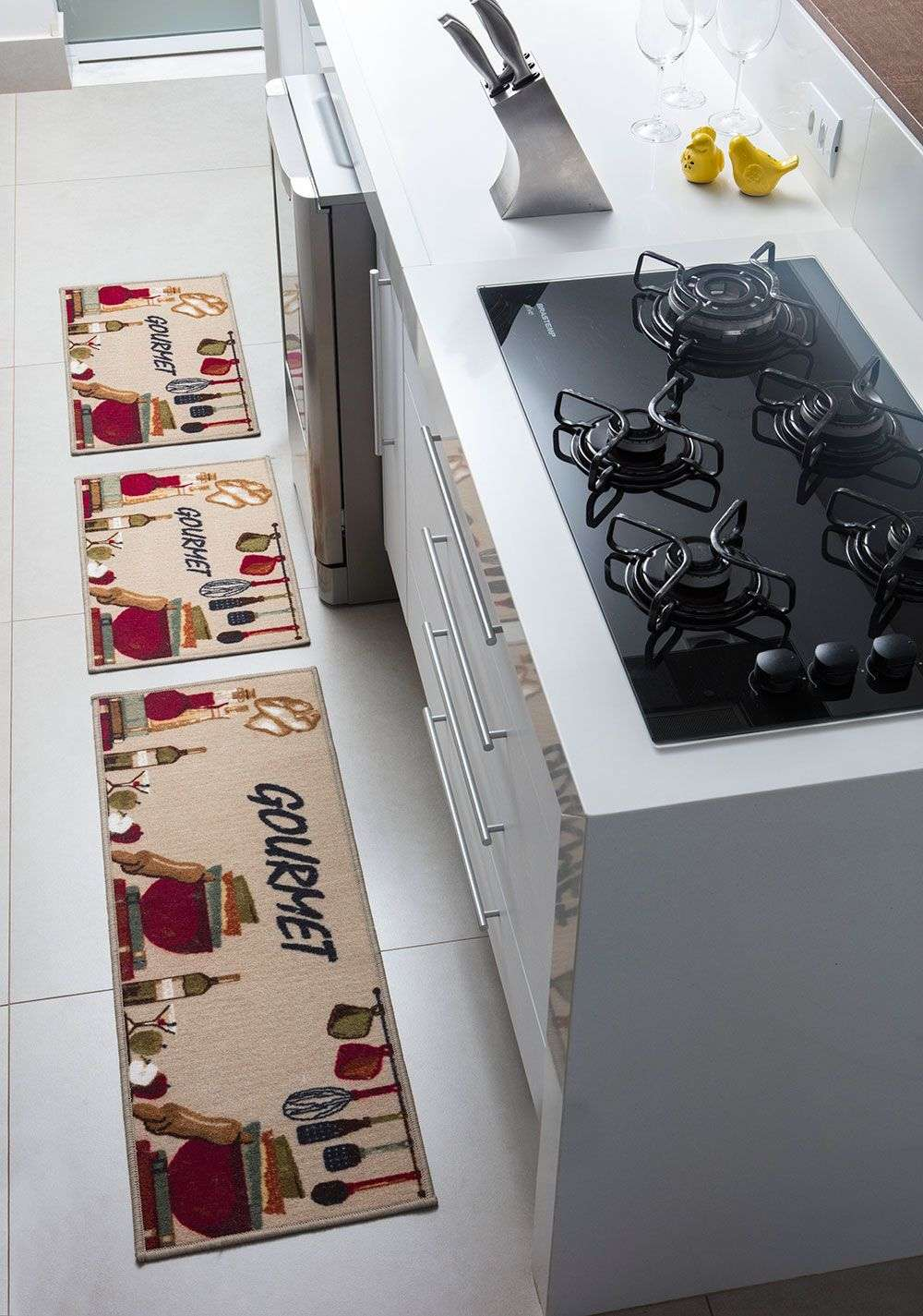 ee6d463c3 Jogo Tapetes de Cozinha Confeitare Cozinha Gourmet 3 peças
