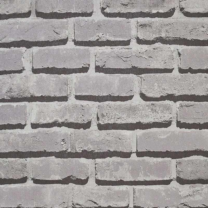 7c04e4bac Papel de parede importado vinilico textura tijolo 3d cinza
