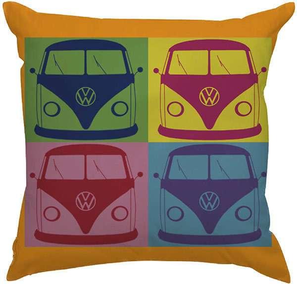 990b078a1 Capa de Almofada Estampas Criativas Carros Clássicos Kombi