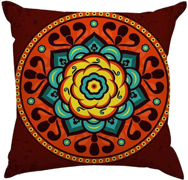 2cd65579f Capa de Almofada Estampas Criativas Mandala