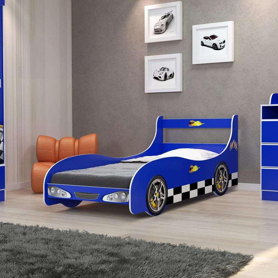 94a5c5ee28 Cama Infantil Carro Rally Azul