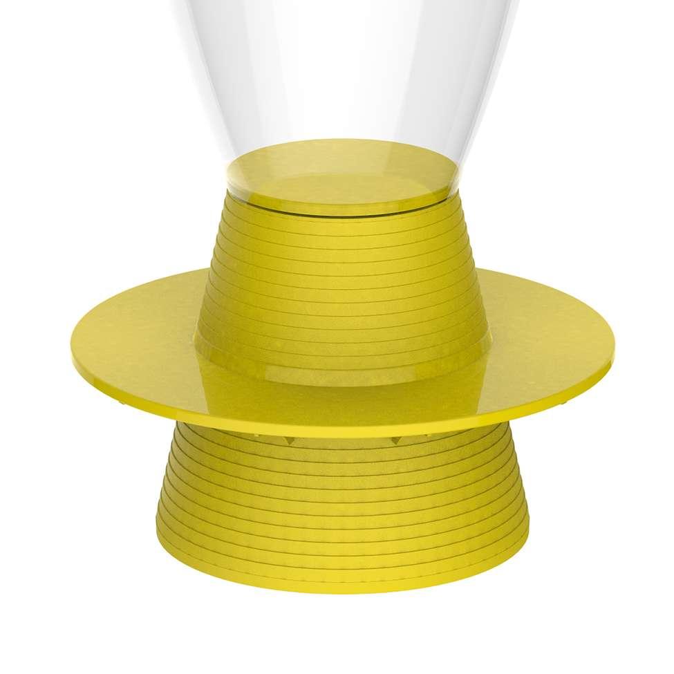 Banco tin policarbonato cristal e amarelo i 39 m in - Cristal policarbonato ...