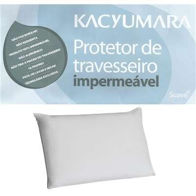 Protetor de Travesseiro Microfibra Impermeável Branco