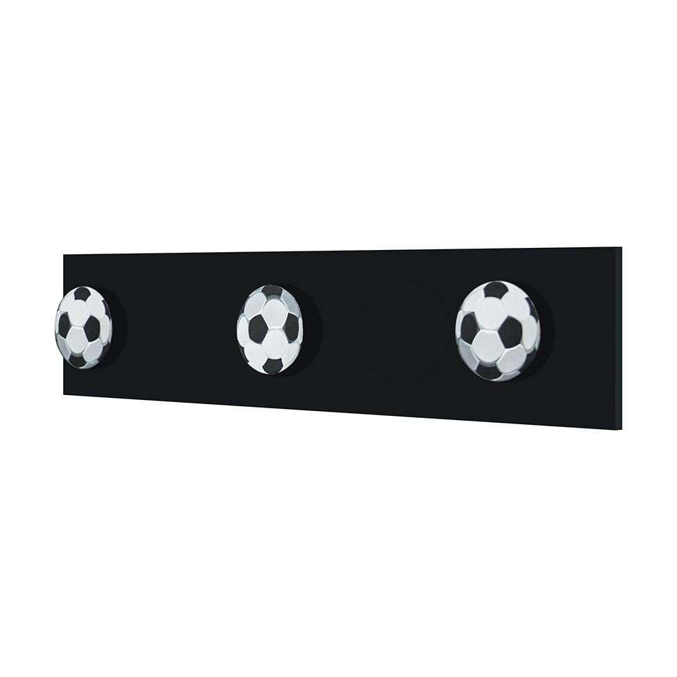 Cabideiro Bolas De Futebol Com 3 Ganchos 9X40X4cm 0614ed252668e