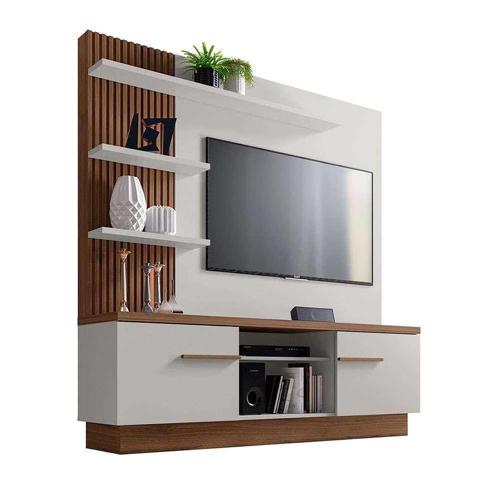 Estante Home Theater Para Tv Até 55 Polegadas Aron: Estante Para Home Theater E TV Até 55 Polegadas Itaipu Off