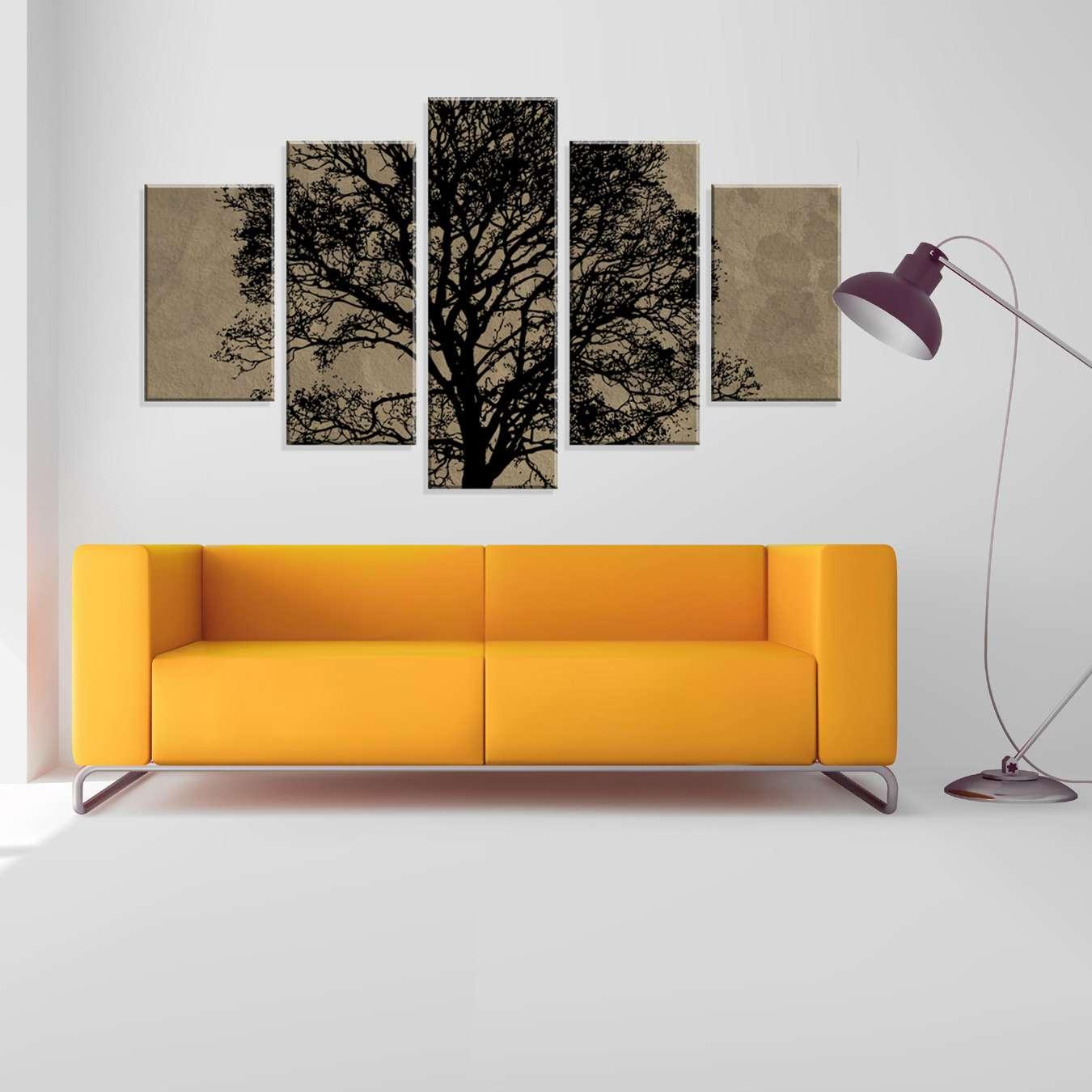 a566970e5 Conjunto de 5 Telas Decorativas em Canvas Arvore 90 x160