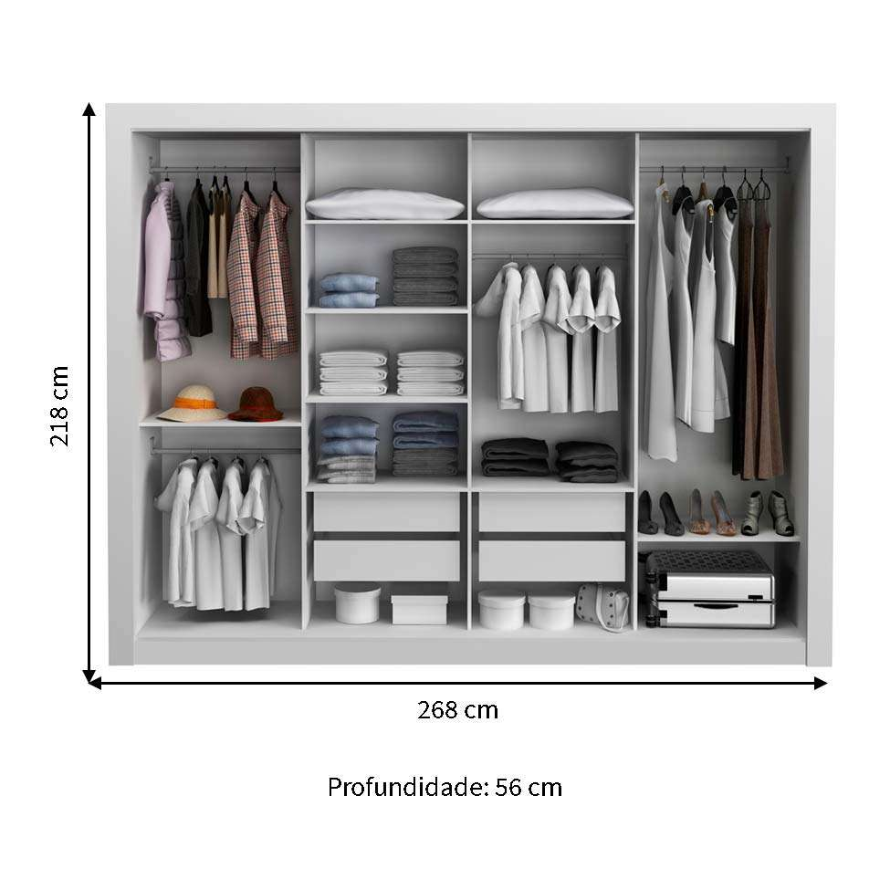 08990a3bc6381 Móveis · Quarto · Guarda-Roupas · Guarda-roupas Casal. Teste este produto  em 3D em sua casa